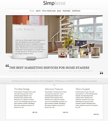 home staging, websites