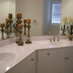 staged bathroom counter tops