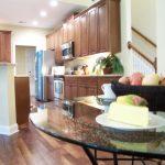 staged eat-in kitchen