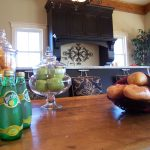 staged kitchen island