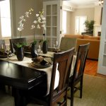 staged formal dining room