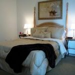 staged guest bedroom