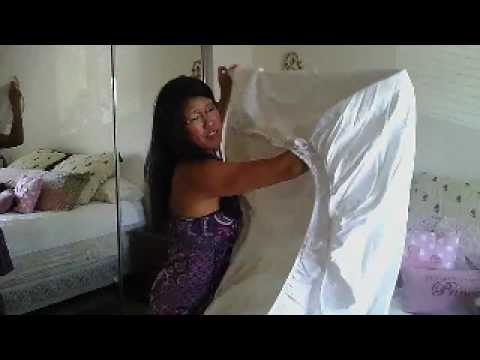 Closet Organization: How to fold a fitted sheet.