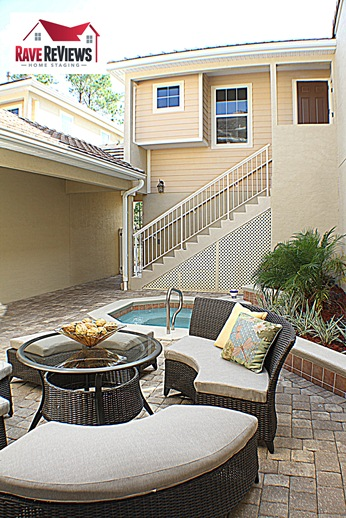 Staged patio in World Golf Village
