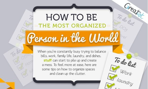 Home Staging for Living: Organizing Your Home Infographic