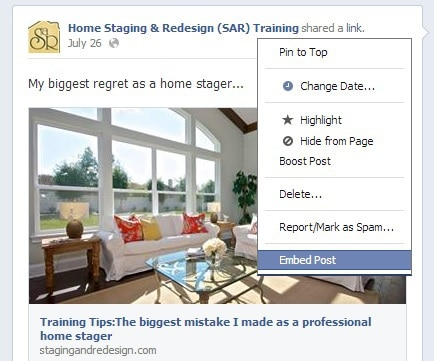 how to share your home staging work