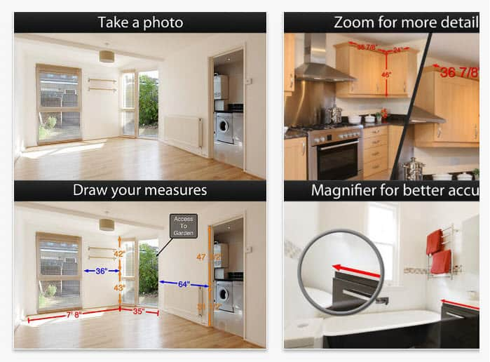 App for home stagers - photo measures